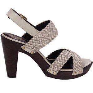 VINCE CAMUTO • Claire sandals woven platform heel